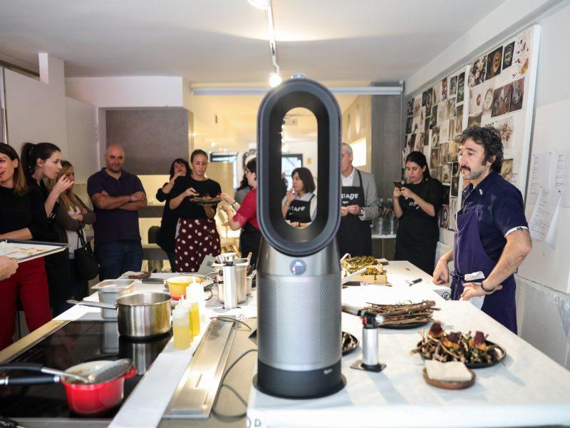 Presentación de producto Dyson con el chef Diego Guerrero